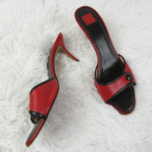 Coach Size 10.5 Clare Leather Kitten Heels